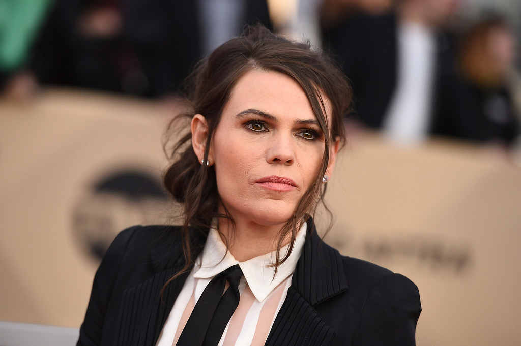 . Clea DuVall arrives at the 24th annual Screen Actors Guild Awards at the Shrine Auditorium & Expo Hall on Sunday, Jan. 21, 2018, in Los Angeles. (Photo by Jordan Strauss/Invision/AP)