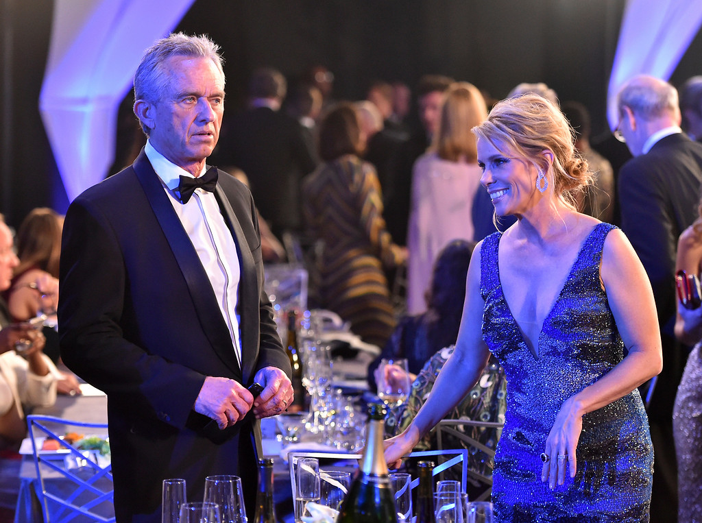 . Cheryl Hines, right, and Robert F. Kennedy, Jr. appear in the audience at the 24th annual Screen Actors Guild Awards at the Shrine Auditorium & Expo Hall on Sunday, Jan. 21, 2018, in Los Angeles. (Photo by Vince Bucci/Invision/AP)