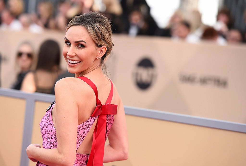 . Keltie Knight arrives at the 24th annual Screen Actors Guild Awards at the Shrine Auditorium & Expo Hall on Sunday, Jan. 21, 2018, in Los Angeles. (Photo by Jordan Strauss/Invision/AP)