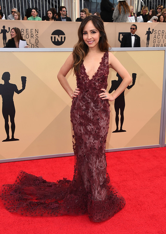 . Lilliana Vazquez arrives at the 24th annual Screen Actors Guild Awards at the Shrine Auditorium & Expo Hall on Sunday, Jan. 21, 2018, in Los Angeles. (Photo by Jordan Strauss/Invision/AP)