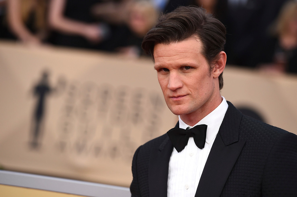 . Matt Smith arrives at the 24th annual Screen Actors Guild Awards at the Shrine Auditorium & Expo Hall on Sunday, Jan. 21, 2018, in Los Angeles. (Photo by Jordan Strauss/Invision/AP)