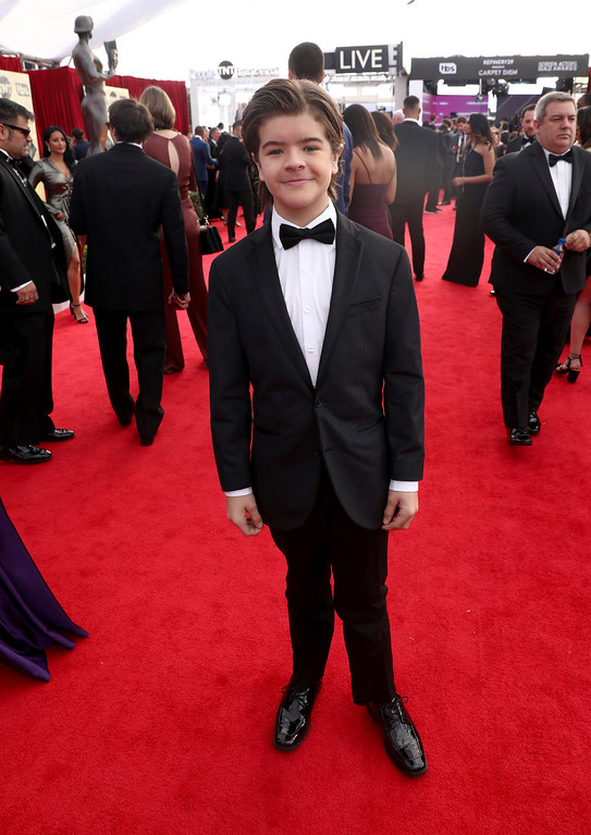. Gaten Matarazzo arrives at the 24th annual Screen Actors Guild Awards at the Shrine Auditorium & Expo Hall on Sunday, Jan. 21, 2018, in Los Angeles. (Photo by Matt Sayles/Invision/AP)