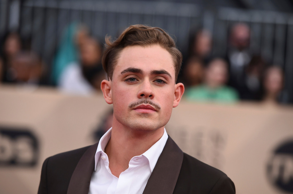 . Dacre Montgomery arrives at the 24th annual Screen Actors Guild Awards at the Shrine Auditorium & Expo Hall on Sunday, Jan. 21, 2018, in Los Angeles. (Photo by Jordan Strauss/Invision/AP)