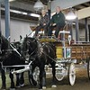 Kimberly Schembri of Mentor, tries her hand at driving a team of horses and the Metroparks show wagon after completing the From Harness to Hitch program offered at the Farmpark. (Kristi Garabrandt/The News-Herald)