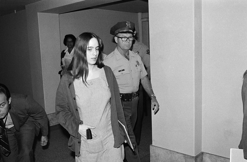 . A wan-looking Susan Atkins walks to court in Los Angeles, for the resumption of the Tate-LaBianca murder trial in which she is one of four defendants, Sept. 3, 1970. She claimed she\'s been constantly in pain the last few days, and the trial was recessed twice so doctors could examine her. They treated her for constipation and said most of her pain probably resulted from anxiety. (AP Photo/Wally Fong)