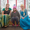 Carrie Garland — The News-Herald <br> The ice was flying during Lake Farmpark's Ice Festival Jan. 28, 2017. A child poses with Disney princesses Elsa and Anna at the event.