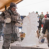 Carrie Garland — The News-Herald <br> The ice was flying during Lake Farmpark's Ice Festival Jan. 28, 2017.