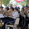 """Jonathan Tressler — The News-Herald <br> Members of the Great Geauga Fair Band play """"Pennsylvania Polka"""" Aug. 30 during a performance on opening day of the 196th Great Geauga County Fair."""