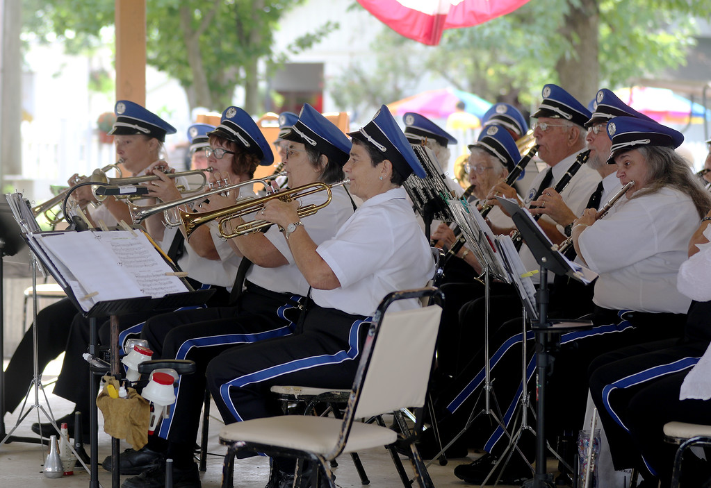 . Jonathan Tressler � The News-Herald <br> Members of the Great Geauga Fair Band play �Pennsylvania Polka� Aug. 30 during a performance on opening day of the 196th Great Geauga County Fair.