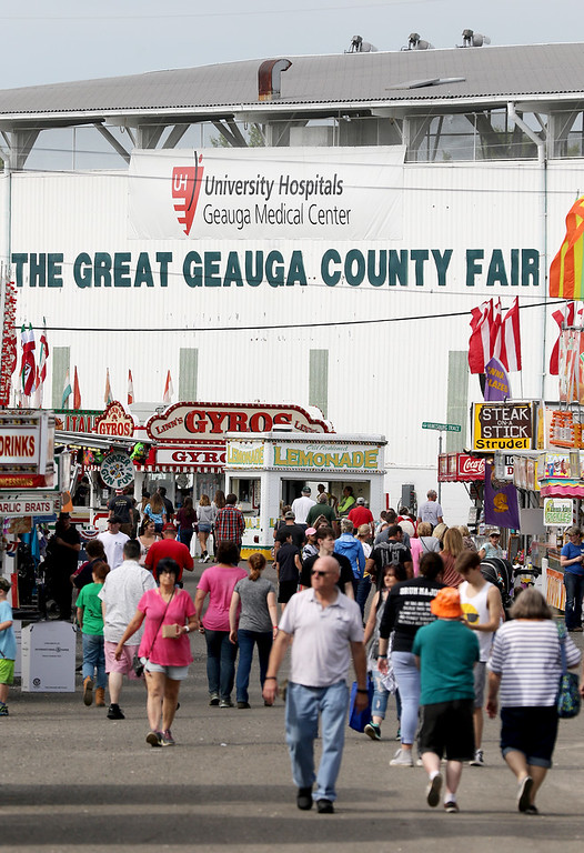. Jonathan Tressler � The News-Herald <br> A scene from opening day of the 196th Great Geauga County Fair on Aug. 30.