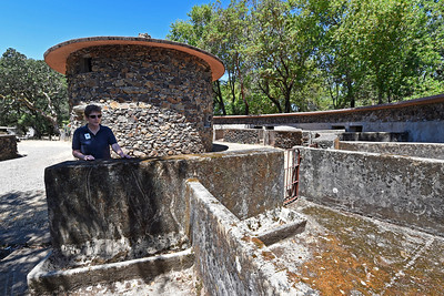 Director of Programs and volunteer management Susan St. Marie tours the Pig Palace that was built in 1915 at Jack London State Historic Park in Glen Ellen, Calif., on Monday, June 27, 2016. (Jose Carlos Fajardo/Bay Area News Group)