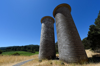 Two large cement block silos constructed between 1912 and 1915 stand over 40 feet tall at Jack London State Historic Park in Glen Ellen, Calif., on Monday, June 27, 2016. (Jose Carlos Fajardo/Bay Area News Group)