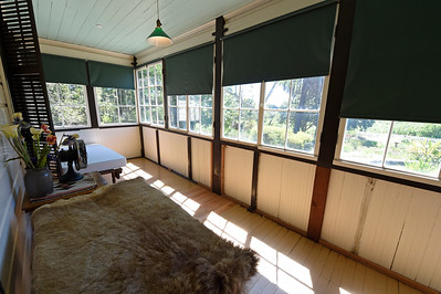 The sunroom where Jack London passed away in 1916 located adjacent to his wife Charmian London's bedroom at The Cottage at Jack London State Historic Park in Glen Ellen, Calif., on Monday, June 27, 2016. (Jose Carlos Fajardo/Bay Area News Group)
