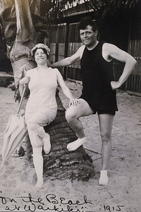 Photograph of Jack London and his wife Charmian London displayed at The Cottage at Jack London State Historic Park in Glen Ellen, Calif., on Monday, June 27, 2016. (Jose Carlos Fajardo/Bay Area News Group)