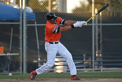 Pittsburg Diamonds designated hitter Jose Canseco (33) strikes out against the Sonoma Stompers in the first inning of their game at Winter Chevrolet Stadium in Pittsburg, Calif., on Thursday, Aug. 4, 2016. (Jose Carlos Fajardo/Bay Area News Group)