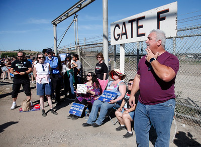 Robert Foglia was arrived at 4:15 am to be first in line for a rally for Democratic presidential candidate Bernie Sanders at the Santa Clara County Fairgrounds in San Jose, Calif., Wednesday morning, May 18, 2016. (Karl Mondon/Bay Area News Group)