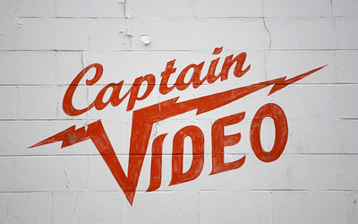 The store logo is painted on the building at Captain Video in San Mateo, Calif., on Friday, June 17, 2016. (Jim Gensheimer/Bay Area News Group)