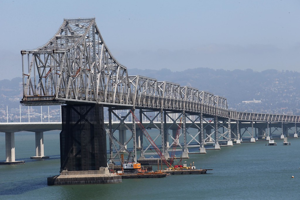 . The eastern span of the old Bay Bridge is seen from Yerba Buena Island in San Francisco, Calif., on Thursday, Sept. 4, 2014. (Jane Tyska/Bay Area News Group)