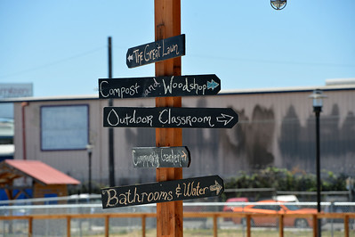 Signs show the different aspects of City Slicker Farms in Oakland, Calif., photographed on Friday, June 24, 2016. (Dan Honda/Bay Area News Group)