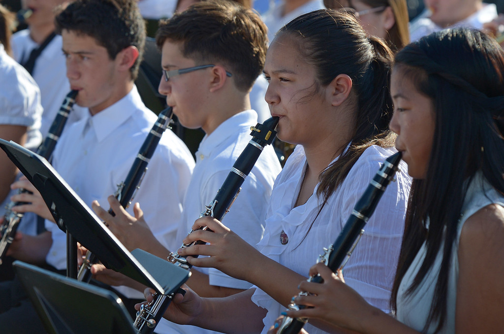 . Deer Valley High School band members perform during graduation ceremonies at Deer Valley High School in Antioch, Calif., on Thursday, June 6, 2013. (Jose Carlos Fajardo/Bay Area News Group)