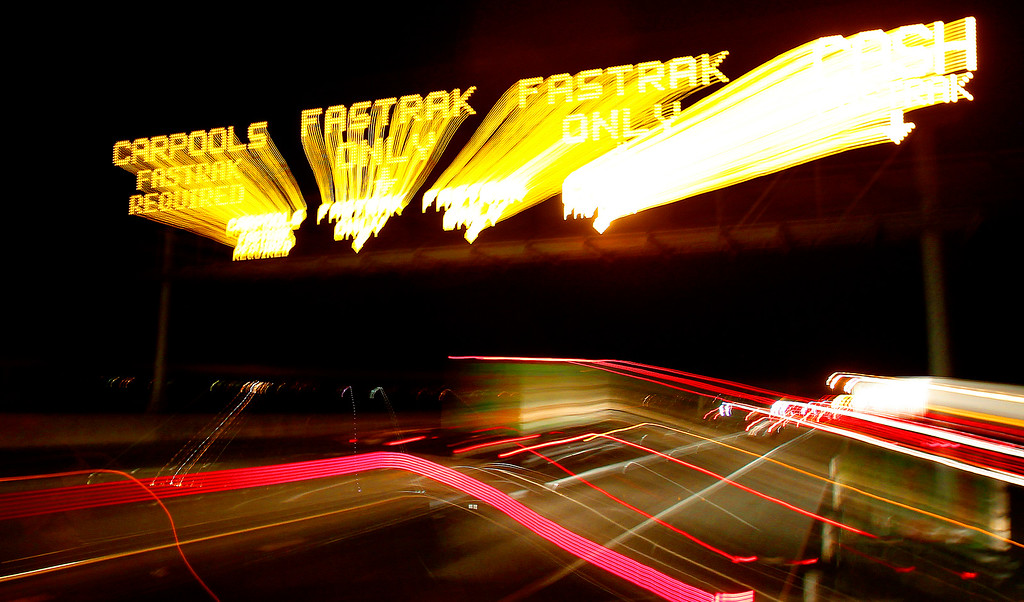 . Automobiles move westbound along Highway 92 near the toll plaza of the San Mateo-Hayward Bridge on Thursday, Aug. 29, 2013, in Hayward, Calif.  (Aric Crabb/Bay Area News Group)