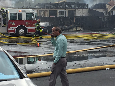 Prakash Patel's Indian vegetarian restaurant Radha Chaat, went up in flames along with other businesses in a strip mall on El Camino Real in Santa Clara on May 24, 2016. He has been doing business in the mall for about four years. (Mark Gomez/Bay Area News Group.