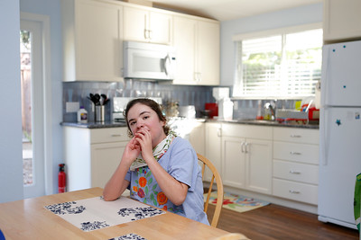Kim Dvorak, 26,  is photographed in the kitchen of her studio in Menlo Park, Calif., on Thursday, June 30, 2016.  Her family built an accessory unit for her, a 640-square-foot studio apartment in a converted garage. (Josie Lepe/Bay Area News Group)