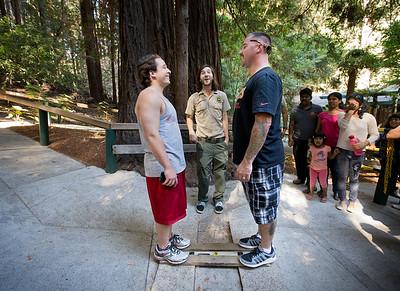 at The Mystery Spot in Santa Cruz, Calif., on Saturday, Sept. 26, 2015.  (LiPo Ching/Bay Area News Group)