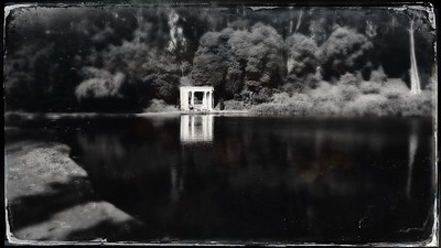YES in b&w tintype