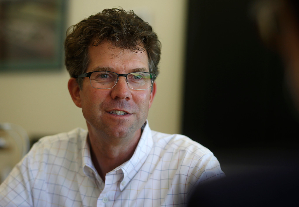 . Jeffrey Welser, vice President and lab director, talks about his work at IBM Almaden Labs in San Jose, Calif., Wednesday, Aug. 3, 2016.  IBM Almaden Labs will celebrate its 30th anniversary on August 11.  (Patrick Tehan/Bay Area News Group)