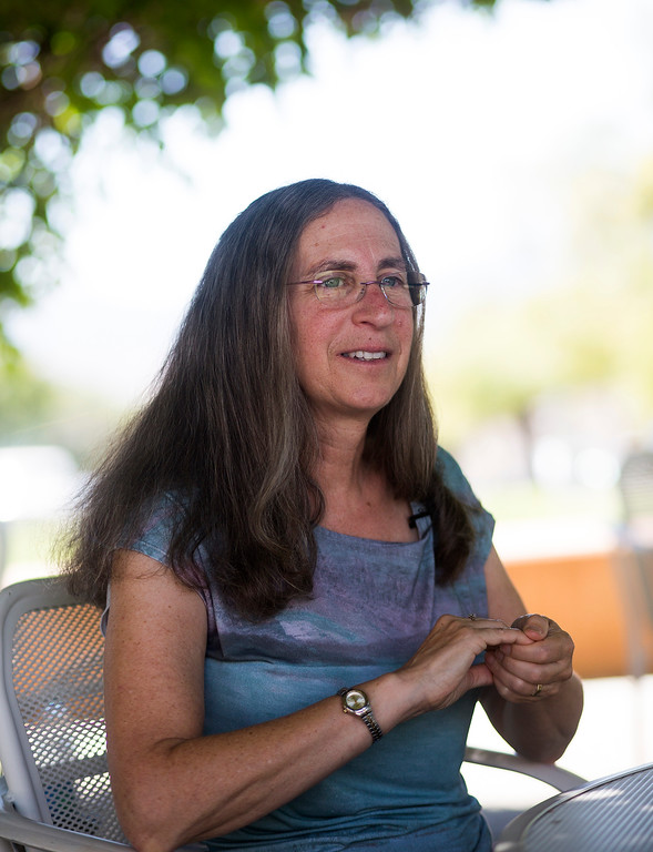 . Dr. Laura Haas, director of the accelerated discovery lab, talks about her work at IBM Almaden Labs in San Jose, Calif., Wednesday, Aug. 3, 2016.  IBM Almaden Labs will celebrate its 30th anniversary on August 11.  (Patrick Tehan/Bay Area News Group)