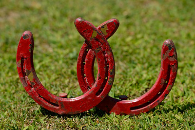 A pair of horse shoes mark the tee box of the 5th hole at Roddy Ranch Golf Club in Antioch, Calif., on Monday, Aug. 8, 2016. The golf course will be closing after Aug. 11th. (Jose Carlos Fajardo/Bay Area News Group)
