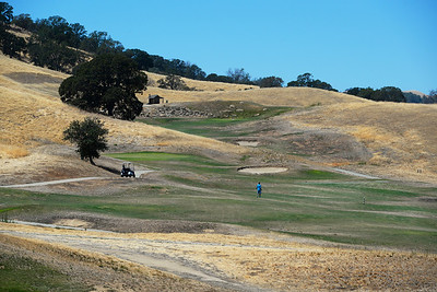 A golfer looks for his ball on the 5th fairway at Roddy Ranch Golf Club in Antioch, Calif., on Monday, Aug. 8, 2016. The golf course will be closing after Aug. 11th. (Jose Carlos Fajardo/Bay Area News Group)