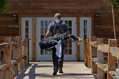 A golfer arrives to the entrance of the clubhouse at Roddy Ranch Golf Club in Antioch, Calif., on Monday, Aug. 8, 2016. The golf course will be closing after Aug. 11th. (Jose Carlos Fajardo/Bay Area News Group)