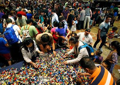 Lego fans attend Bricks by the Bay in Santa Clara