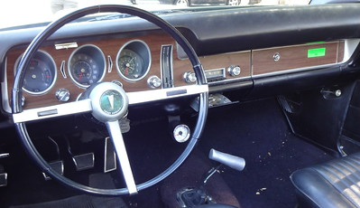 The dashboard on the 1968 Pontiac GTO convertible.    (Photo by David Krumboltz)