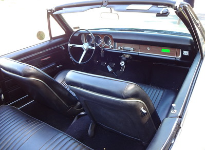 Interior of the 1968 Pontiac GTO convertible.  (Photo by David Krumboltz)