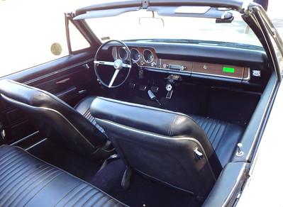 Interior of the 1968 Pontiac GTO convertible.  (Photo by David Krumboltz)