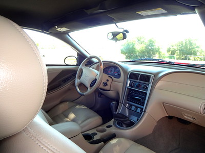 Interior of the 2004 Ford Mustang convertible.   (Photo by David Krumboltz)