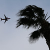 Because winds were coming from the south, planes took off opposite of their normal direction in San Jose, Calif., on Sunday, Feb. 9, 2014. While the sky was full of rain clouds, very little rain made it to the ground during the day. (Jim Gensheimer/Bay Area News Group)