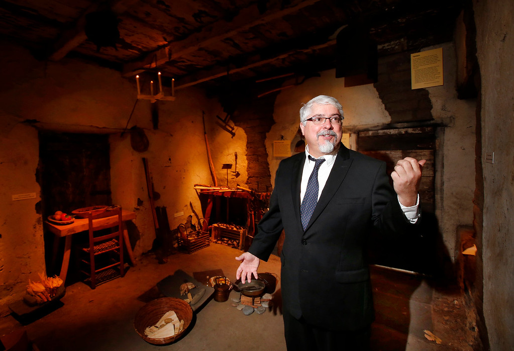 . Superior Court Judge Paul Bernal shows off the newly re-opened Roberto Adobe in San Jose, Calif., Monday, Aug. 22, 2016. The 1836 structure will be part of the new Roberto Adobe and Sunol House Museum being opened by the California Pioneers of Santa Clara County. (Karl Mondon/Bay Area News Group)