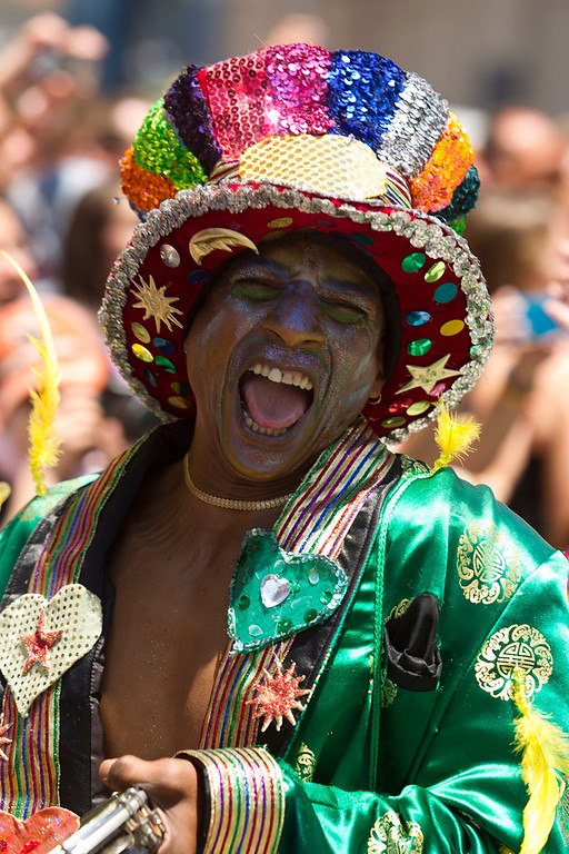 . Wilson Low, of the dance group Capoeira Abada Tania performs at the 43rd annual San Francisco Pride Parade, Sunday, June 30, 2013, in San Francisco, Calif. (D. Ross Cameron/Bay Area News Group)