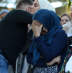 Members of the local Muslim community are welcomed to a vigil at the 1220 Club in Walnut Creek, Calif., on Monday, June 13, 2016. The vigil, put on by the 1220 Club, Rainbow Community Center and other LGBT and religious organizations, was in support and to remember those who died in the Orlando shooting. (Dan Honda/Bay Area News Group)