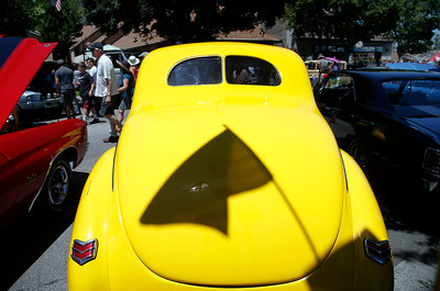 The Saratoga Classic Car Show draws car aficionados to Big Basin Way in Saratoga, Calif., Sunday, July 17, 2016. (Karl Mondon/Bay Area News Group)