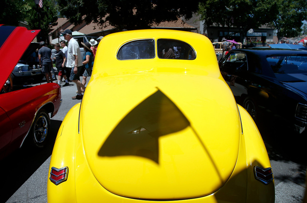 . The Saratoga Classic Car Show draws car aficionados to Big Basin Way in Saratoga, Calif., Sunday, July 17, 2016. (Karl Mondon/Bay Area News Group)