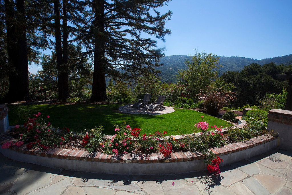 . The view from Paul Masson\'s chateau in the hills above Saratoga, Calif., photographed Thursday, Sept. 1, 2016. The house, on three acres, is on the market for $7 million and it is where Masson once entertained friends like Charlie Chaplin and John Steinbeck.  (Patrick Tehan/Bay Area News Group)