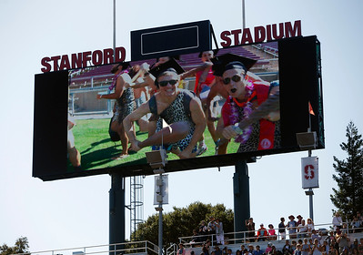 Stanford University students maintain the school's Wacky Walk tradition entering the football stadium in costume for their commencement ceremony in Stanford, Calif., Sunday morning, June 12, 2016. (Karl Mondon/Bay Area News Group)