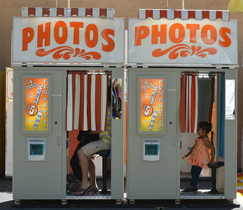 An old fair standby, the photo booth photographed at the Alameda County Fair at the Alameda County Fairgrounds in Pleasanton, Calif., on Wednesday, June 15, 2016. The fair, which opened on Wednesday with $1day, will run through July 4th. Check their website for hours and days of operation. (Dan Honda/Bay Area News Group)