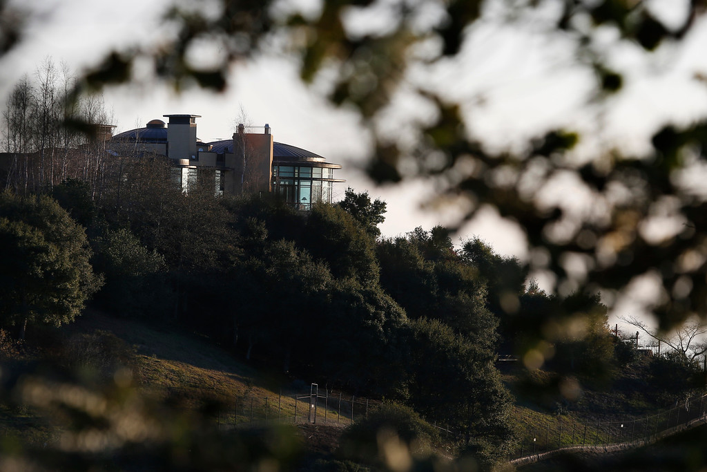 . The home on 6889 Devon Way in the Oakland/Berkeley hills was sold for 20.5 million dollars making the most expensive sale ever for Alameda County in Oakland, Calif., on Thursday, Jan. 7, 2016.  The 14,000 square foot home sits on 20 acres and features seven fireplaces, five bathrooms, four bedrooms, spa, 250 gallon salt water fish tank, an art gallery, a 2,500 bottle wine cellar, and a 16-car garage. (Ray Chavez/Bay Area News Group)