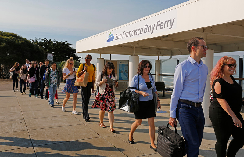 Image result for ferry commuters san francisco